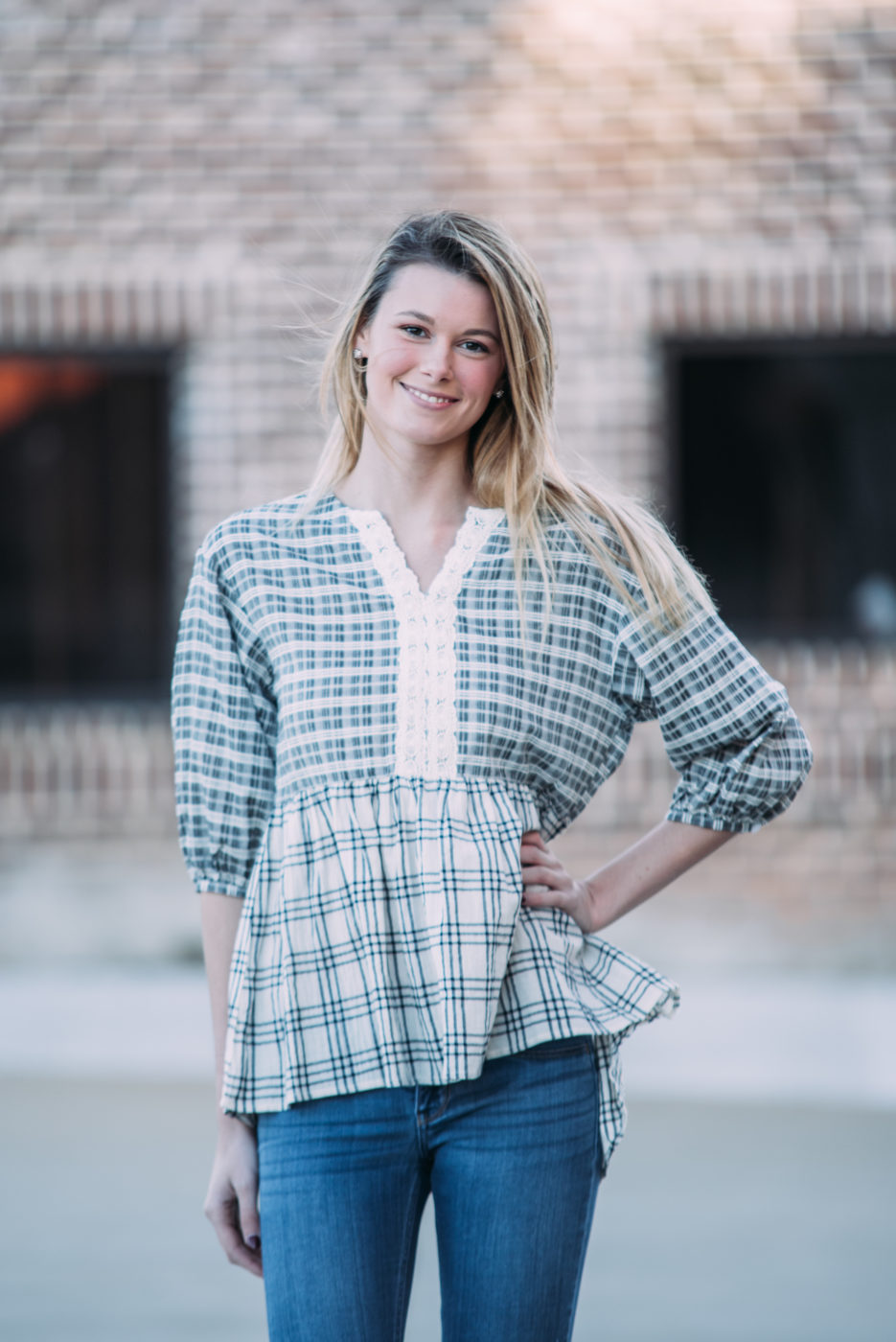 Portrait in Plaid Top
