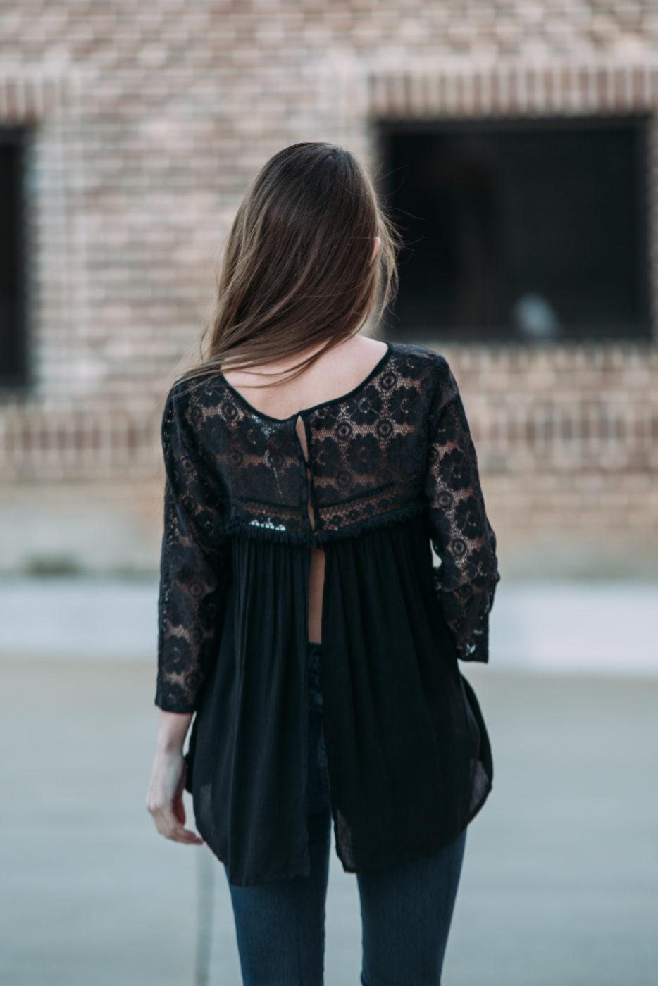 Lacey Illusion Babydoll Top