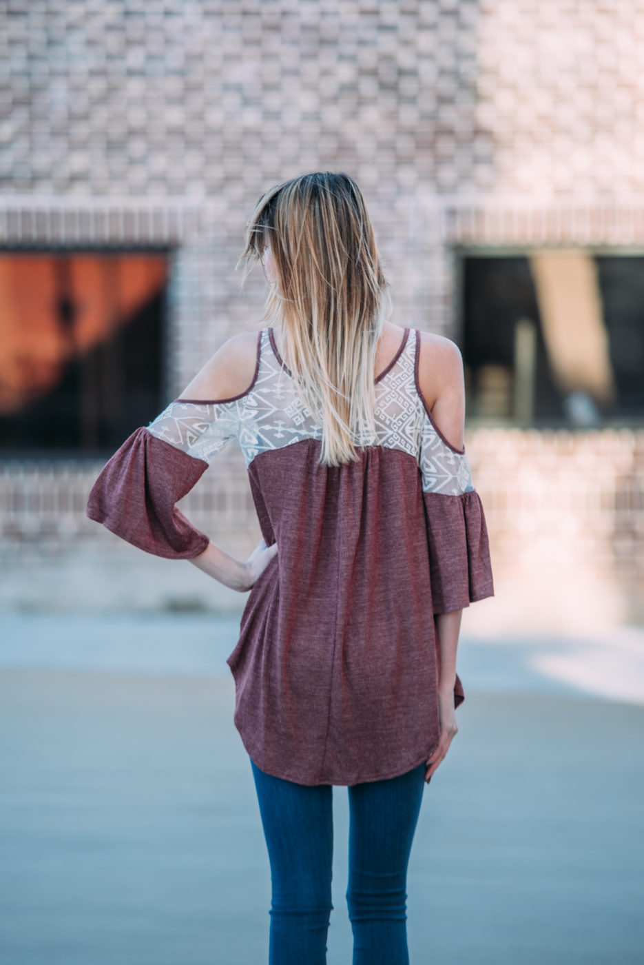 Fine As Wine Cold Shoulder Top